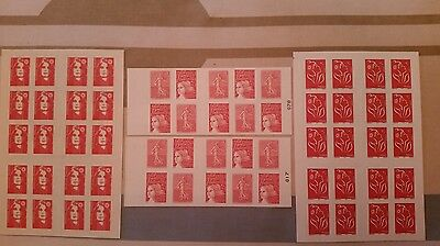 Lot Timbres France Neuf, Carnets, Faciale 47,50 €.....