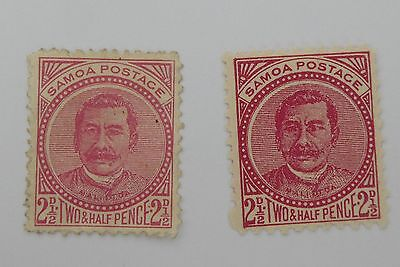 Pacific Islands Early Samoan Stamps Victorian era and QEII