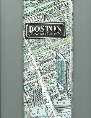 2000 Boston Picture & Street Map, Olde South Publishing, extgra large map