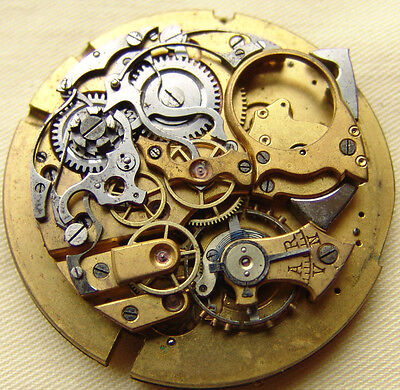 VINTAGE 50mm REPEATER LePhare MOVEMENT for parts or repare, as is.