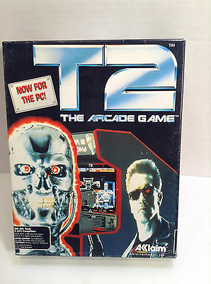 """terminator 2 T2 the arcade Game pc 3.5"""" floppy personal computer Made In The USA"""