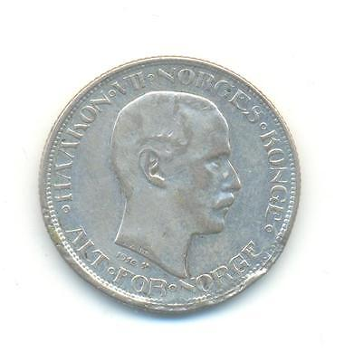 Very Nice Rare.norway.50.ore.1916.in Silver.very Collectable.c.186