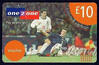 one2one Collectable phonecard: £10 Limited Edition ~  Football