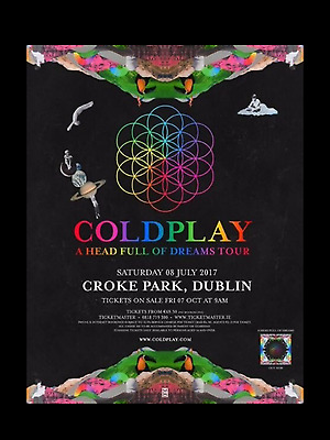 Coldplay Ticket - Standing Pitch 1 - Croke Park - Dublin