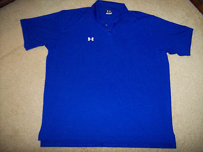 Pre-Owned Under Armour Men's Blue 3 Button Golf/polo Shirt Size 2Xl