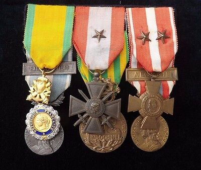 rare French Foreign Legion Indochina and Algeria Medal group. 100% genuine