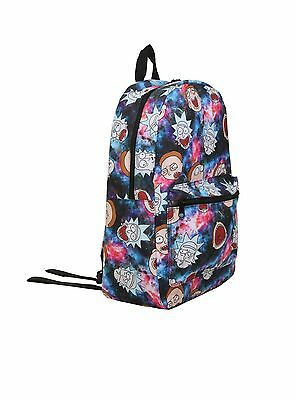 Rick and Morty Galaxy Travel Backpack Straps Adult Swim TV Show Book Bag