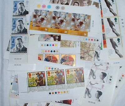 Mint MNH GB British Blocks of 3 Stamps FV £62 @ 70% of Face Value - NO RESERVE
