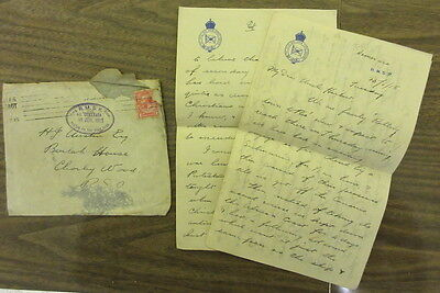 WW1 letter Royal Mail Steam Packet Co SS Demerara 18 June 1915 posted high seas