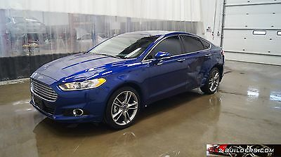 2015 Ford Fusion Titanium 4 door sedan 2015 Ford Fusion Titanium, 2.0L, Salvage Title, Repairable, Rebuildable #114492