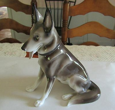 Vintage Germany Porcelain Figurine ~ German Shepherd