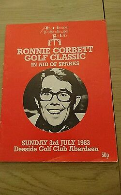 rare  ronnie corbett golf classic programme with signed gerald harper Neil coles