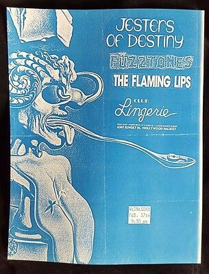 THE FLAMING LIPS / The Fuzztones Original Concert Flyer 1988 Psych Garage PunK