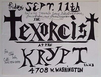 TEXORCIST Original Concert Flyer 1987 Goth PunK Tex & Horseheads The Stains DC3