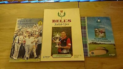 scottish open programmes 1984 1993 and 1995