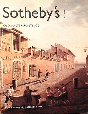 Sotheby's Auction Catalog OLD MASTER PAINTINGS ANTIQUE DRAWINGS 12/7/04