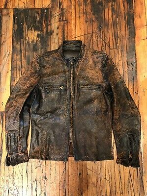 Vintage Buco Leather Motorcycle Jacket J100 US Size 40 Brown