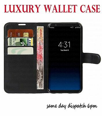 Flip Wallet Leather Case Cover For Samsung Galaxy S5 BLACK76