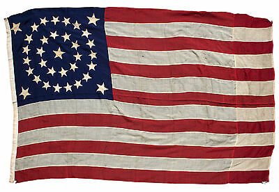U.S. Flag With 34 Stars Representing the Addition of KS