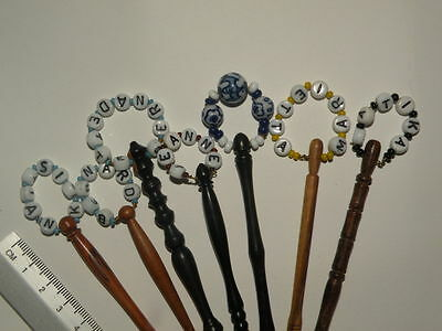 lace bobbins  wooden beads