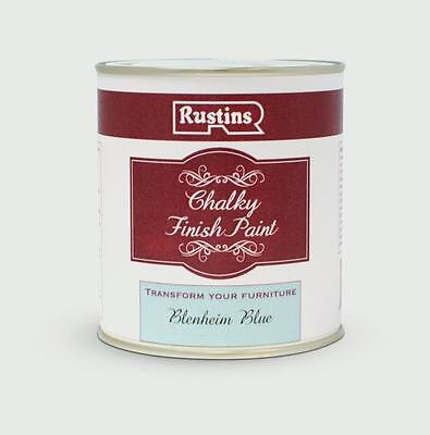 Rustins Chalky Finish Paint 250ml Blenheim Blue