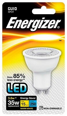 Energizer GU10 Warm White Blister Pack 3.6w