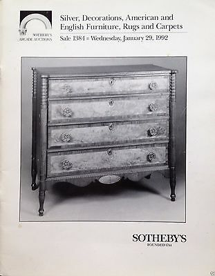 Sotheby's Silver Decorations American & English Furniture Rugs Carpets 1 1992 NY