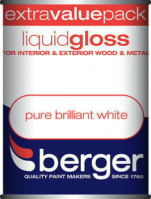 Berger Liquid Gloss 1.25L Pure Brilliant White