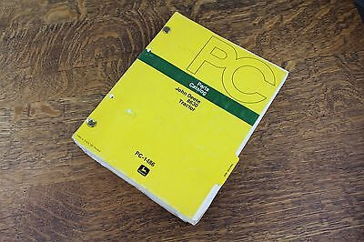 vintage original JOHN DEERE dealership 8630 Tractor Parts Catalog Manual