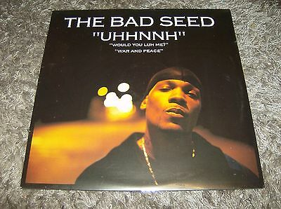 """The Bad Seed - Uhhnnh / Would you Luh Me / War And Peace 12"""" vinyl NEW"""