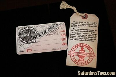 1954 / 2003 Walt Disney Studio Carolwood Pacific Railroad PASS & Baggage ticket