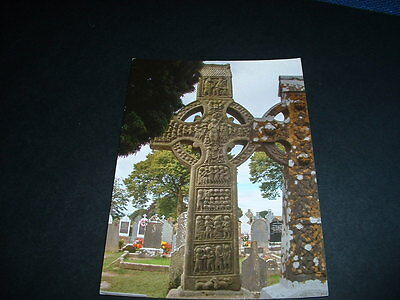 IRISH  POSTCARD  THE CROSS OF MUIREDACH MONASTERBOICE Co LOUTH