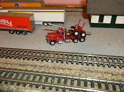 Custom    Ghq Log Truck     Custom Painted  Red   And Detailed