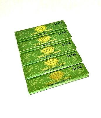 JOB Oragnic Hemp Rolling Papers 5 Packs 32 Leaves Slim Size Tobacco Unbleached