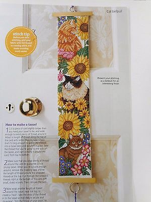 Cats & Flowers Bellpull/hanger/picture Cross Stitch Chart