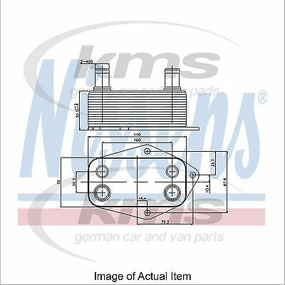 New Engine Oil Cooler NISSENS 90675 Top Quality