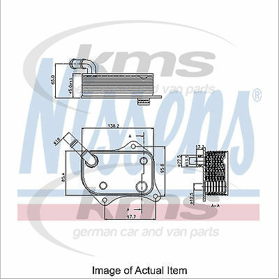 New Engine Oil Cooler NISSENS 90711 Top Quality