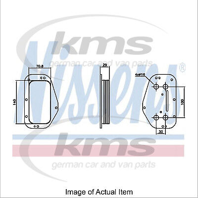 New Engine Oil Cooler NISSENS 90741 Top Quality