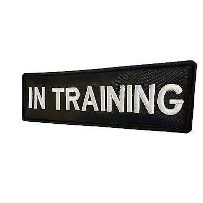 k9 harness IN TRAINING dog k-9 embroidered bordado parche hook&loop patch