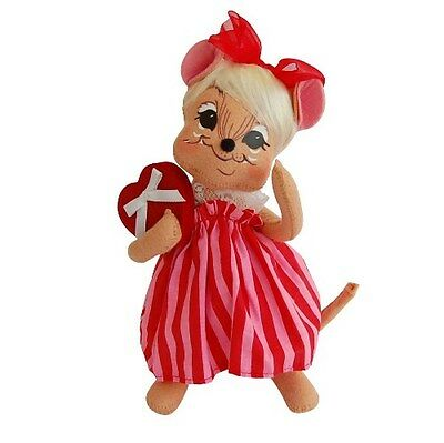 """ANNALEE ~ 2014 ~ Valentines ~ 8"""" ~ """"Sweetheart Girl Mouse"""" ~ #100214 ~ NWT"""