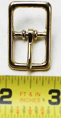 "(5 Pack) 5/8"" Center Bar Solid Brass Buckle DieCast Belt Dog Collar 40342L5"