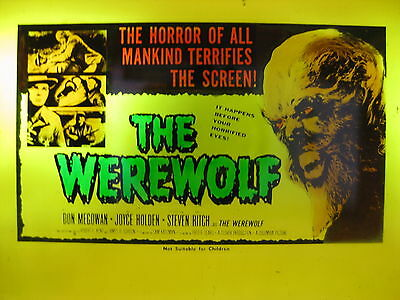 THE WEREWOLF Orig Australian cinema movie projector glass slide horror classic