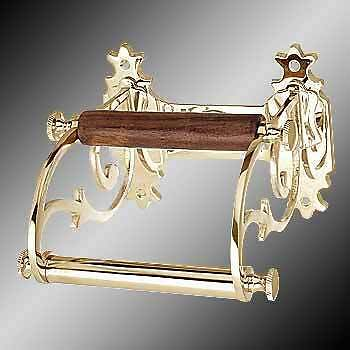 Home Decor Toilet Paper Holder Antique Solid Brass Victorian Tissue Holder 6723