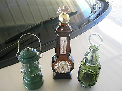 vintage avon lantern decanters and excaliber 1969 weather or not bottle