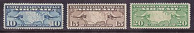 Us #c7-C9 Vf/mnh  Maps Air Mail Set Of 3 Mint Never Hinged. Well Centered