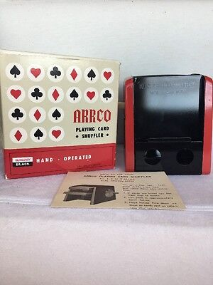 Vintage Arrco Playing Hand Operated Card Shuffler Original Box & Instructions