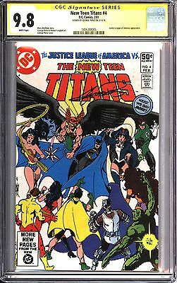 * New TEEN TITANS #4 CGC 9.8 SS Signed Perez Justice League! (1406388005)