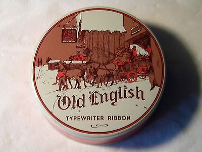 Vintage Old English Typewriter Ribbon Tin