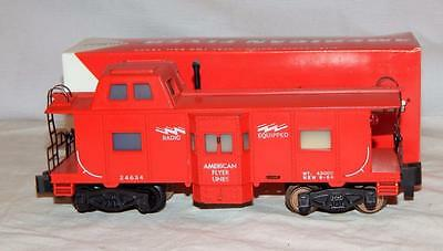 American Flyer 24634 Red Deluxe Bay Window Illuminated caboose Sgauge Pikemaster