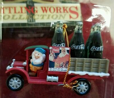 Coca-Cola Christmas Ornament, Bottle Works Collection Elf with Delivery Truck